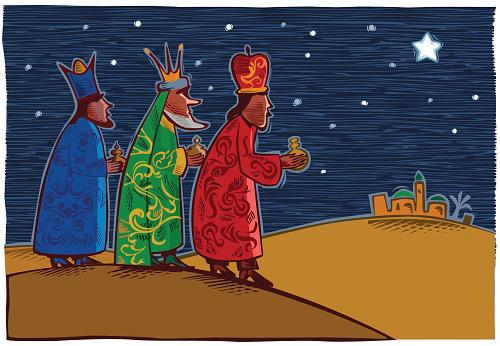 Three wise men - three kings