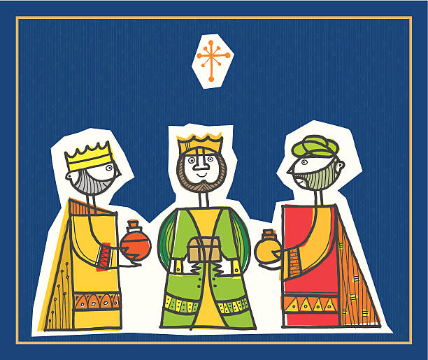 ilustraciones, imágenes clip art, dibujos animados e iconos de stock de los tres reyes magos - tintanegra00
