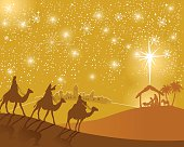 Three Wise Men on their way to Bethlehem. EPS 10 file.