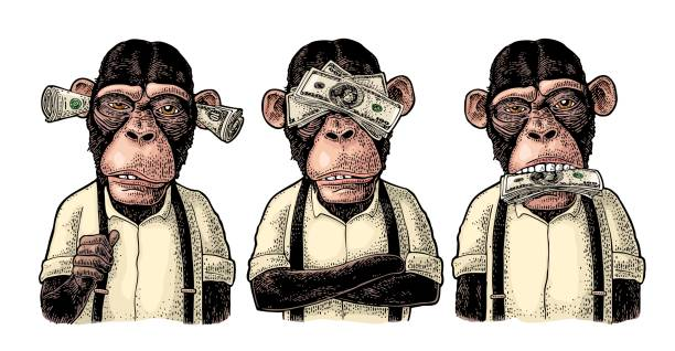 200 Three Monkeys Illustrations & Clip Art - iStock