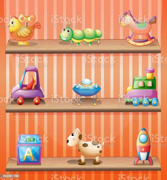 Three wooden shelves with toys vector id454357765?b=1&k=6&m=454357765&s=612x612&h=5tsyck x8xghddvtbiv5efujqwfldx5axndyqauz8qa=