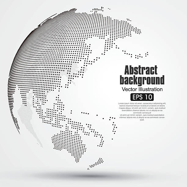 Three-dimensional abstract planet, dots, representing the global, international meaning. – Vektorgrafik
