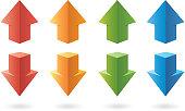 Three-dimensional color arrows