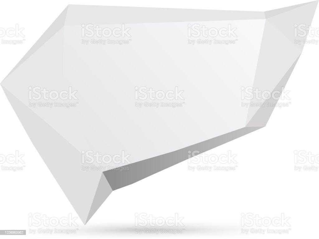 Three-dimensional origami speech bubble royalty-free stock vector art