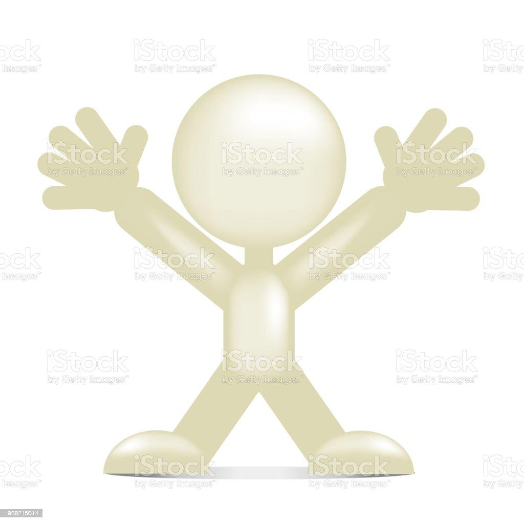 Pessoas tridimensionais - pose - ilustração de arte em vetor
