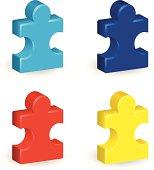 Three-Dimensional Puzzle Pieces