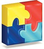 Three-Dimensional Puzzle Square