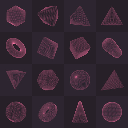 Three-dimensional Vector Shapes Collection