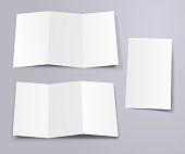 threefold flyer mockup template front and back pages
