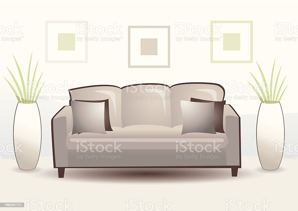 Three-seater royalty-free stock vector art