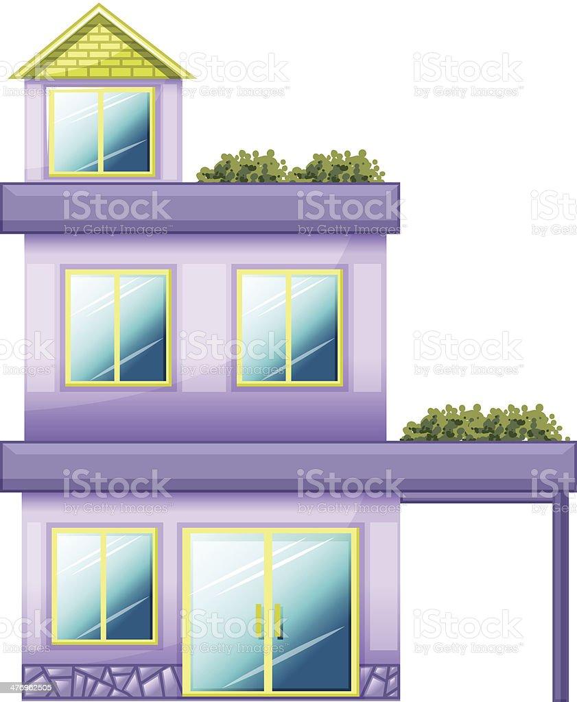 three-story building royalty-free stock vector art
