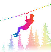 Thrilling Zipline Adventure Rainbow