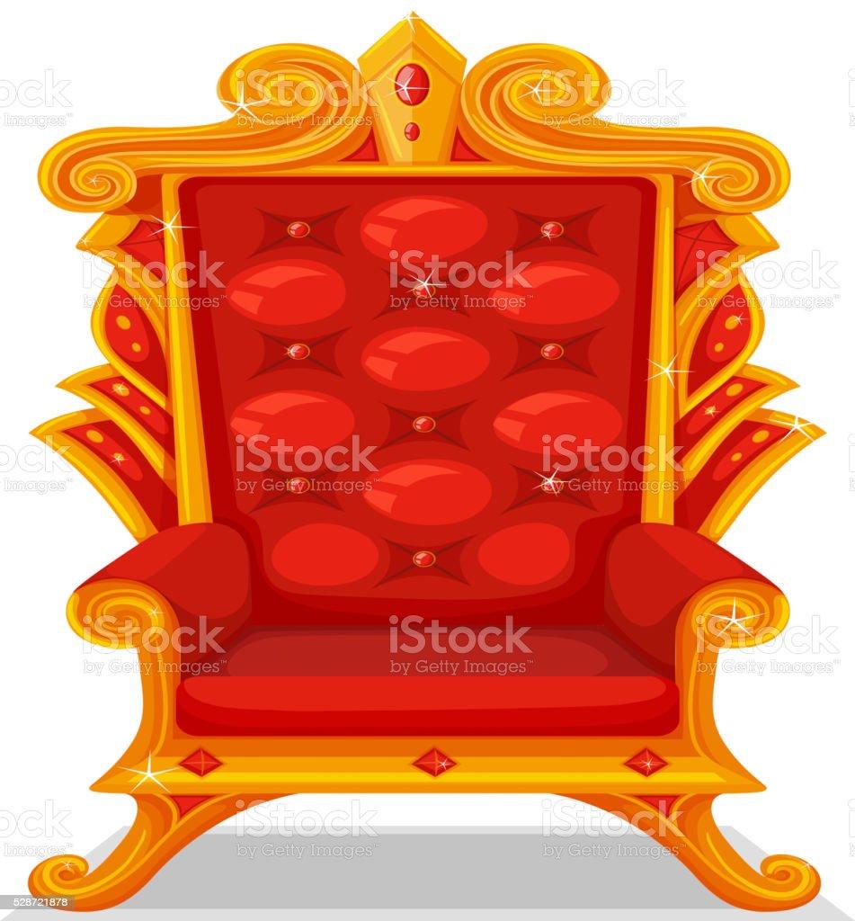 Throne made of gold vector art illustration