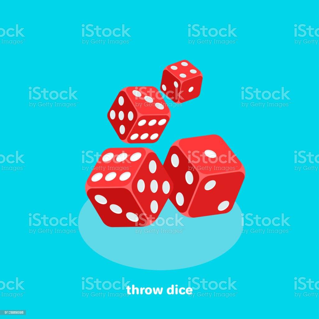 dice2 atmak vektör sanat illüstrasyonu