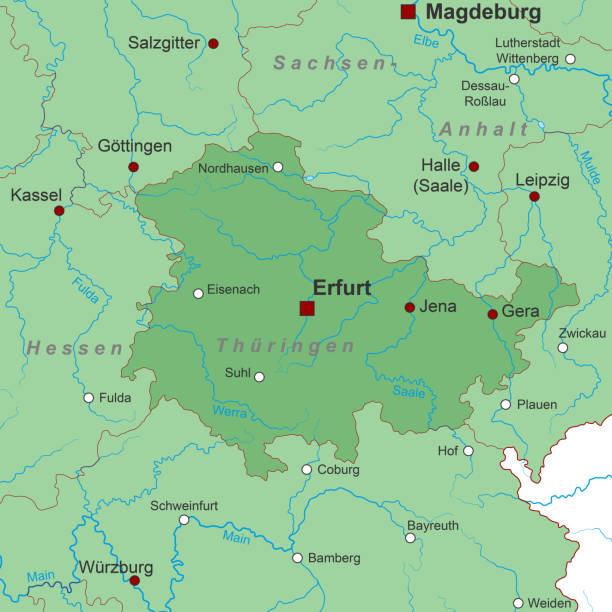 thueringen_landkarte_gw – Vektorgrafik