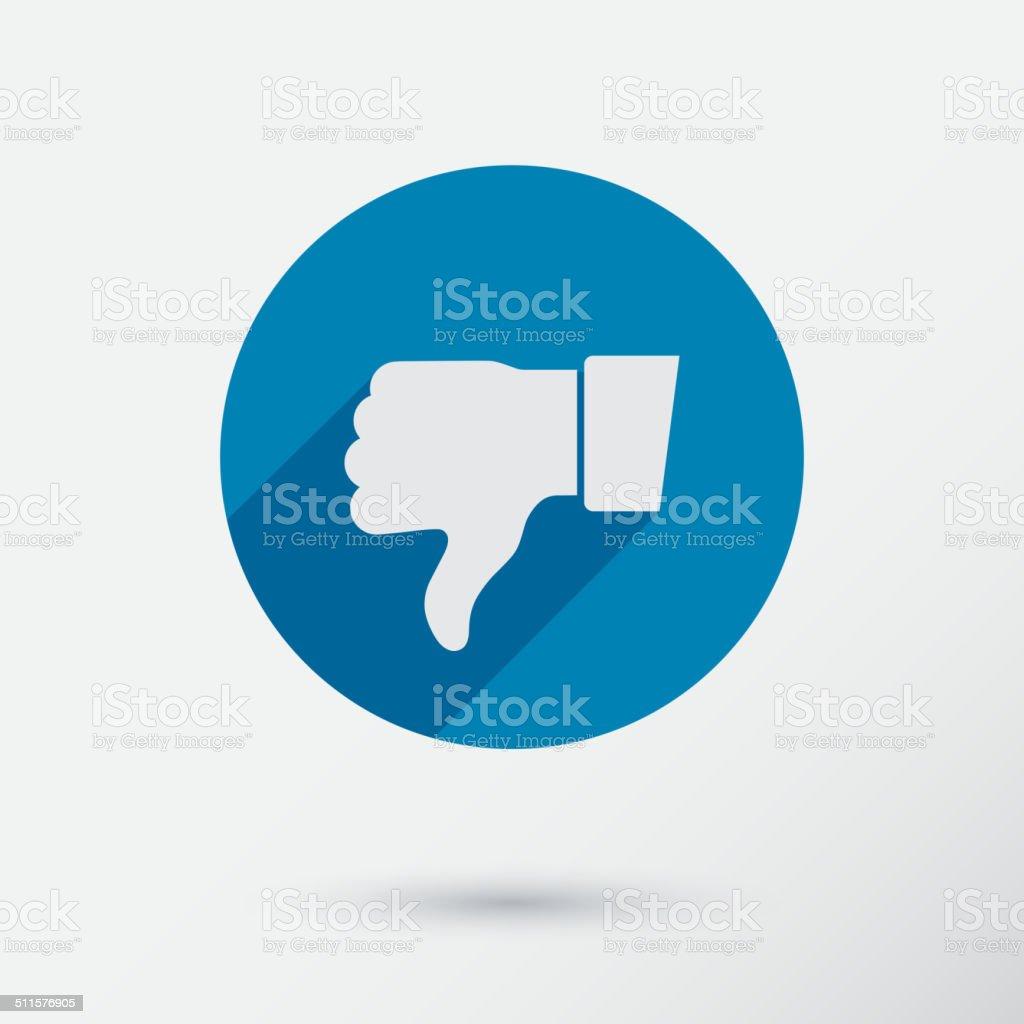 Thumb down applique. Icon. Flat style. vector art illustration