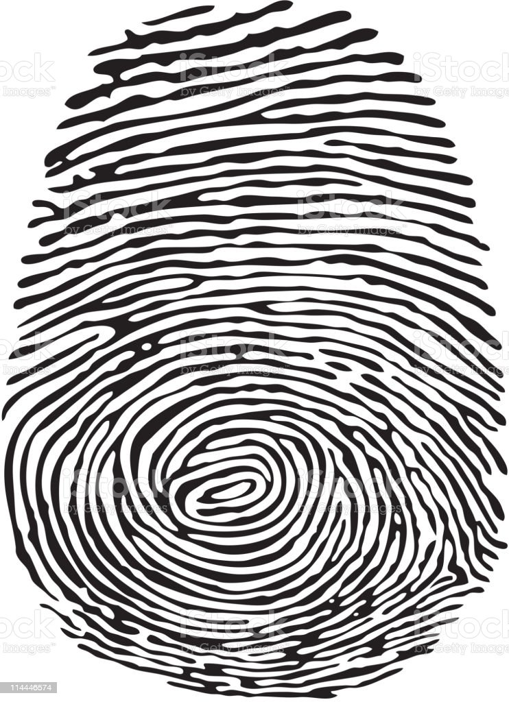 Thumb Print royalty-free stock vector art