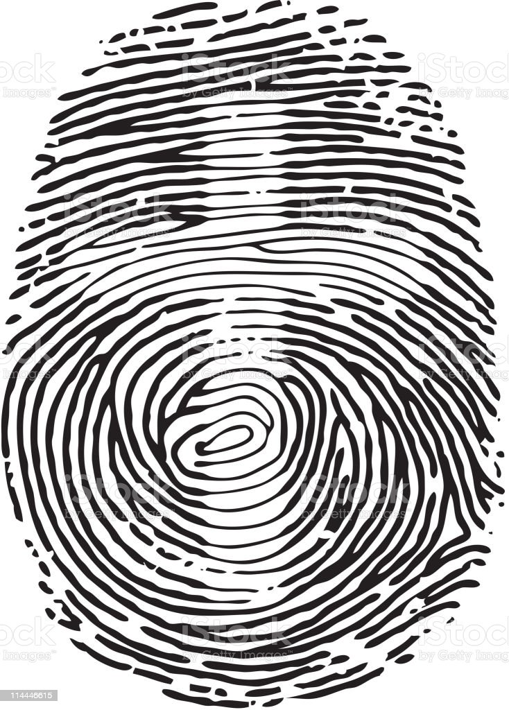 Thumb Print royalty-free thumb print stock vector art & more images of black and white