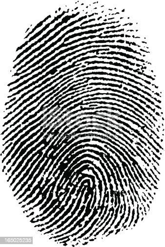 Vector Thumb Print.