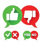 Thumb Up and Check Icons