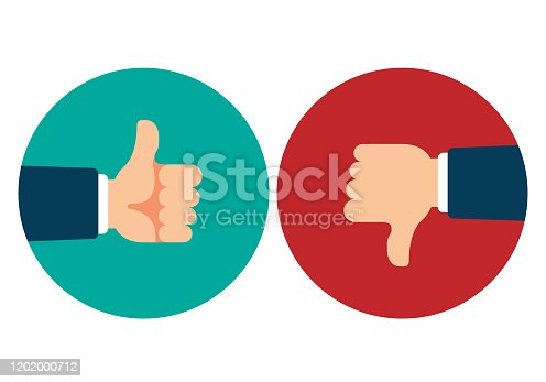 istock Thumb Up and Thumb Down 1202000712