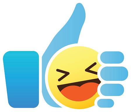 Emoticon Pouce Leve Comme Icone Avec Smiley Emoji Vecteurs Libres De Droits Et Plus D Images Vectorielles De Bleu Istock