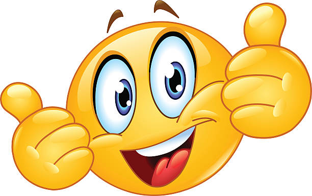 thumb up emoticon - emoji stock illustrations, clip art, cartoons, & icons