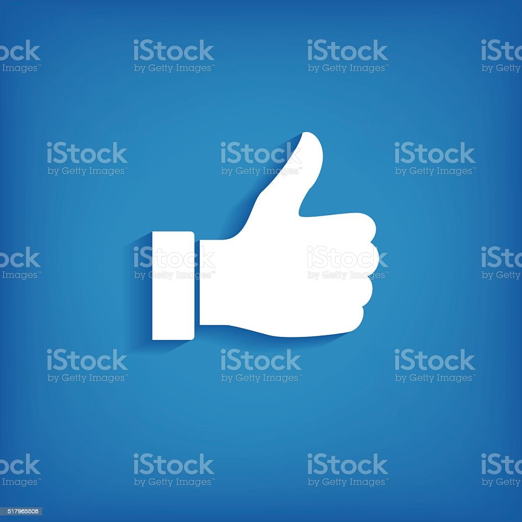 Thumb up icon vector art illustration