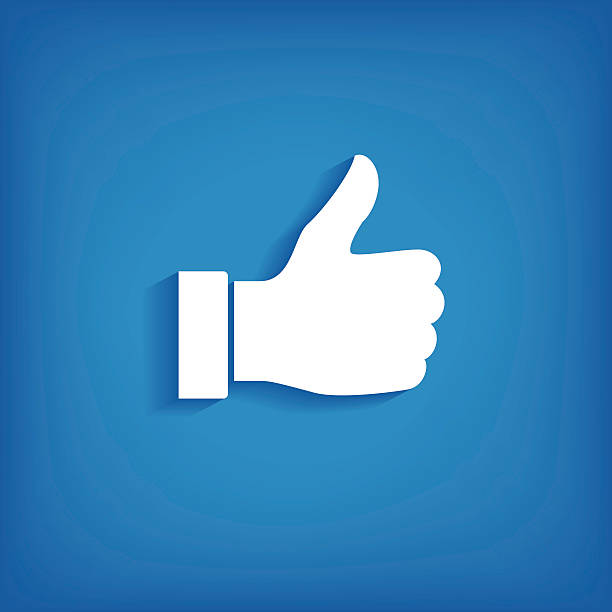 Thumb up icon vector art illustration
