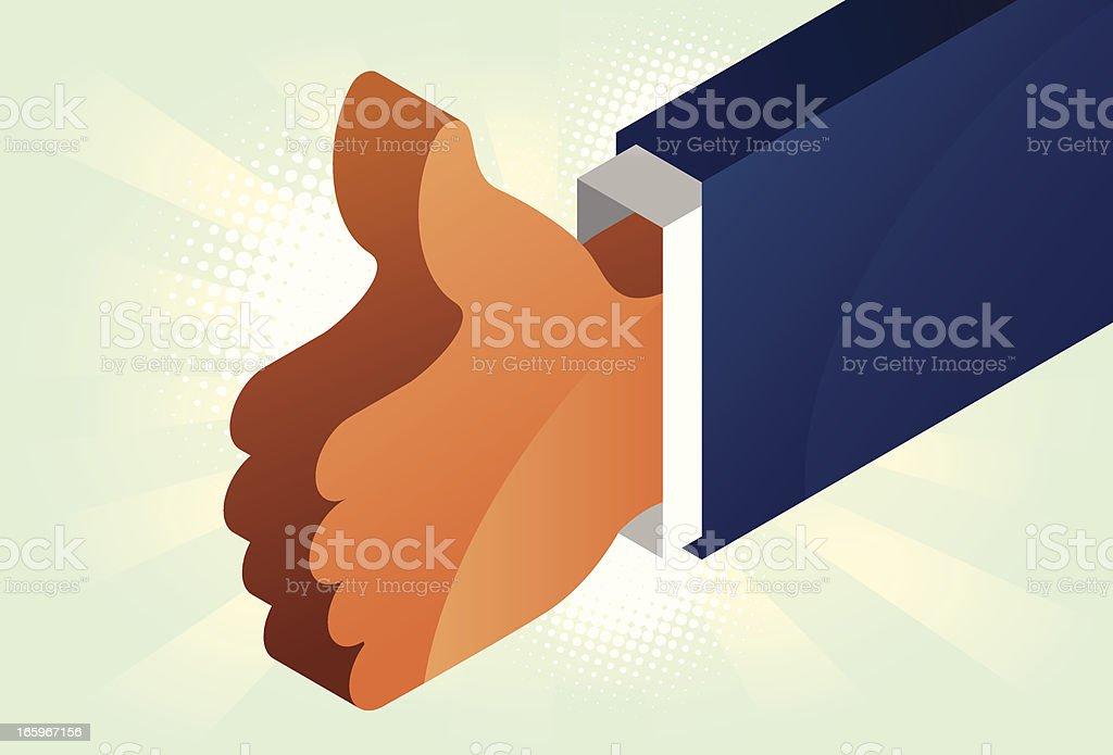 Thumb up isometric vector art illustration