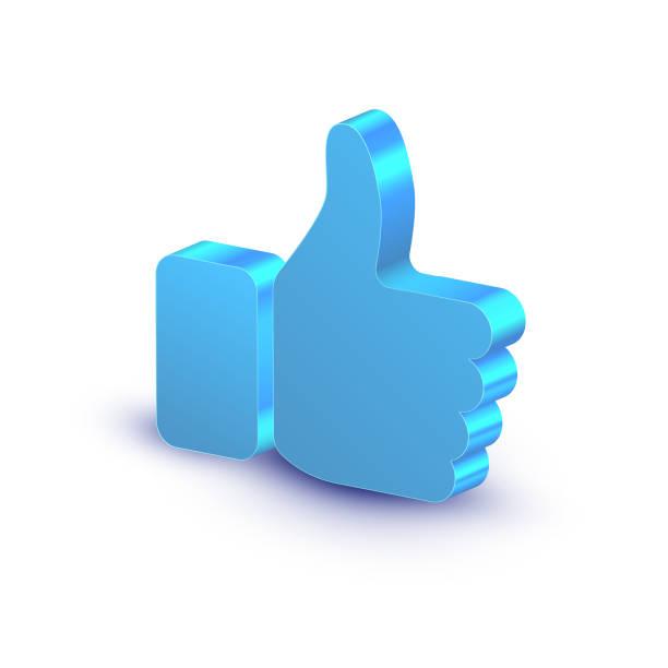 ilustrações de stock, clip art, desenhos animados e ícones de thumb up symbol isolated on white background, vector illustration. - prazer
