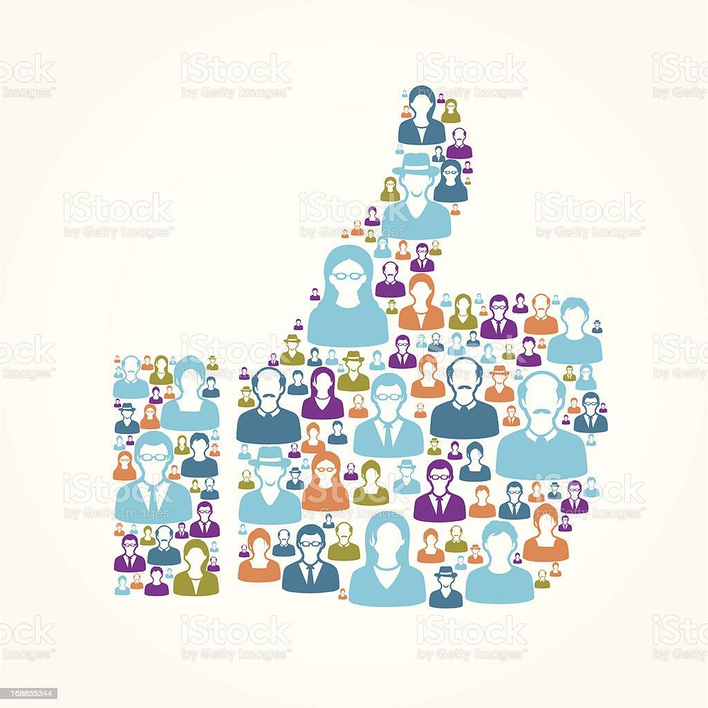 Thumb up royalty-free stock vector art