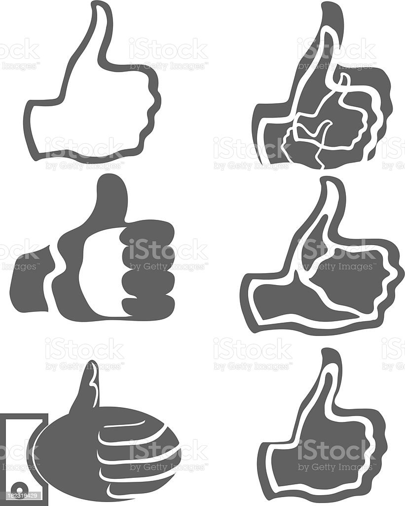 thumb up royalty-free stock vector art