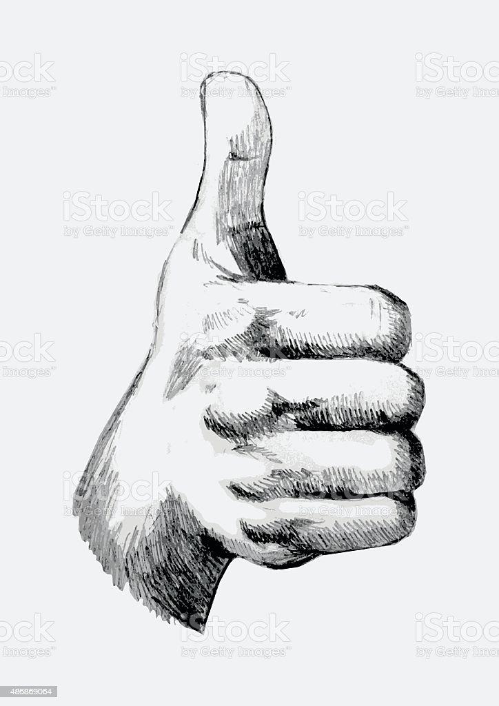 Thumb Up vector art illustration