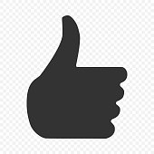Thumb up Hand icon. Vector illustration