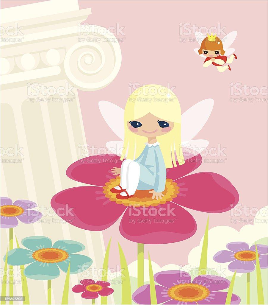 Thumbelina. vector art illustration