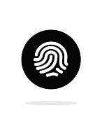 Thumbprint scanner icon on white background