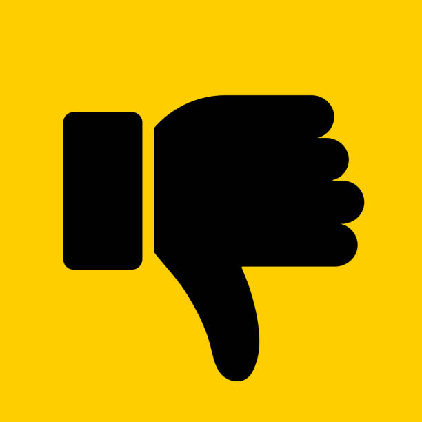 ilustrações de stock, clip art, desenhos animados e ícones de thumbs down icon - deceção