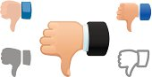 Vector collection of Thumbs Down icons.