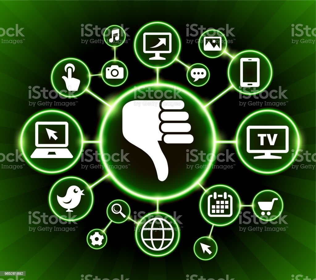 Thumbs Down Internet Communication Technology Dark Buttons Background royalty-free thumbs down internet communication technology dark buttons background stock vector art & more images of backgrounds