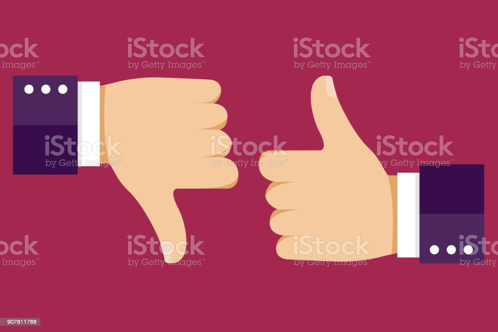 Thumbs up and down. Like for social network. Vector illustration EPS10 royalty-free thumbs up and down like for social network vector illustration eps10 stock illustration - download image now