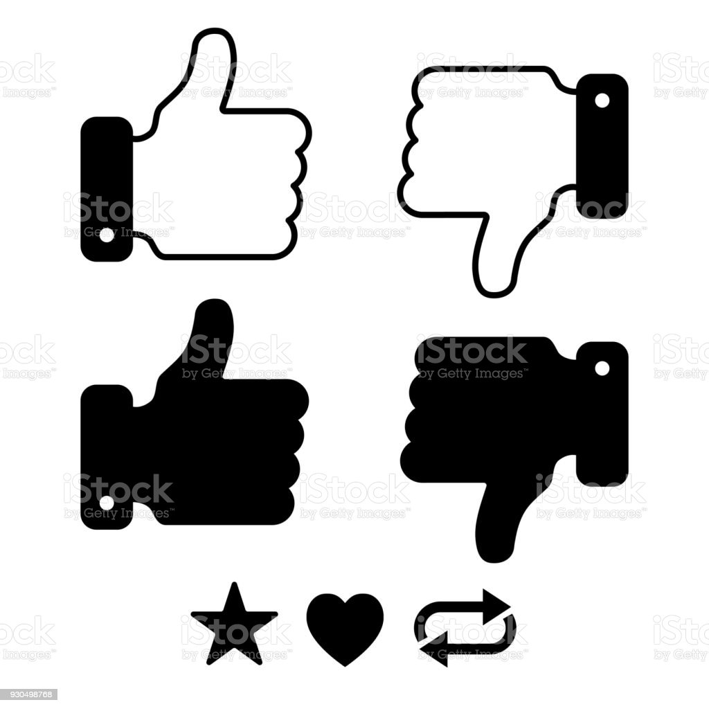 Thumbs Up and Down Sign