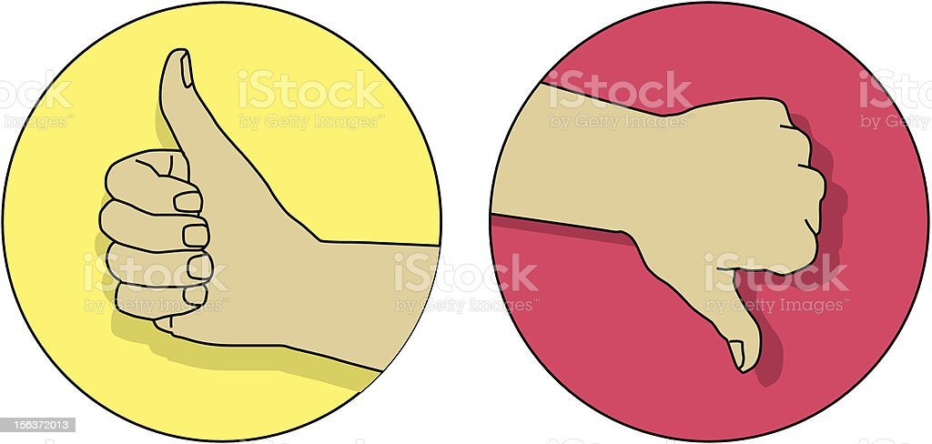 thumbs up and down royalty-free stock vector art
