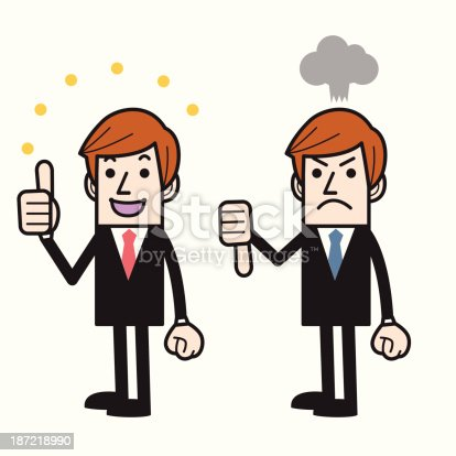 istock Thumbs Up and Down 187218990