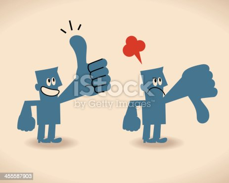Vector illustration – Thumbs Up and Thumbs Down.