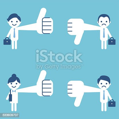 istock Thumbs Up and Down 533609707