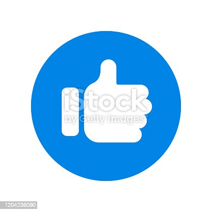 istock Thumbs Up and Like Icon Vector Design on White Background. 1204236090