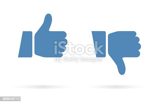 istock Thumbs Up and Thumbs Down Icon 669948712