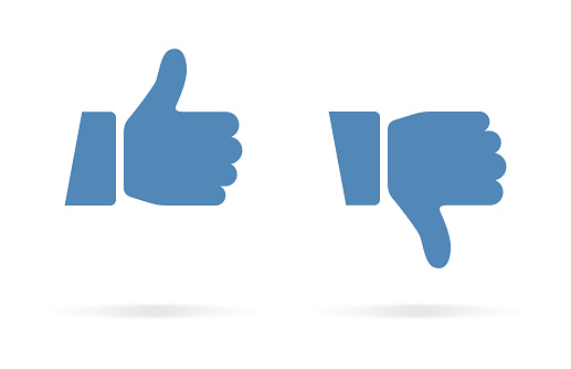 Thumbs Up and Thumbs Down Icon