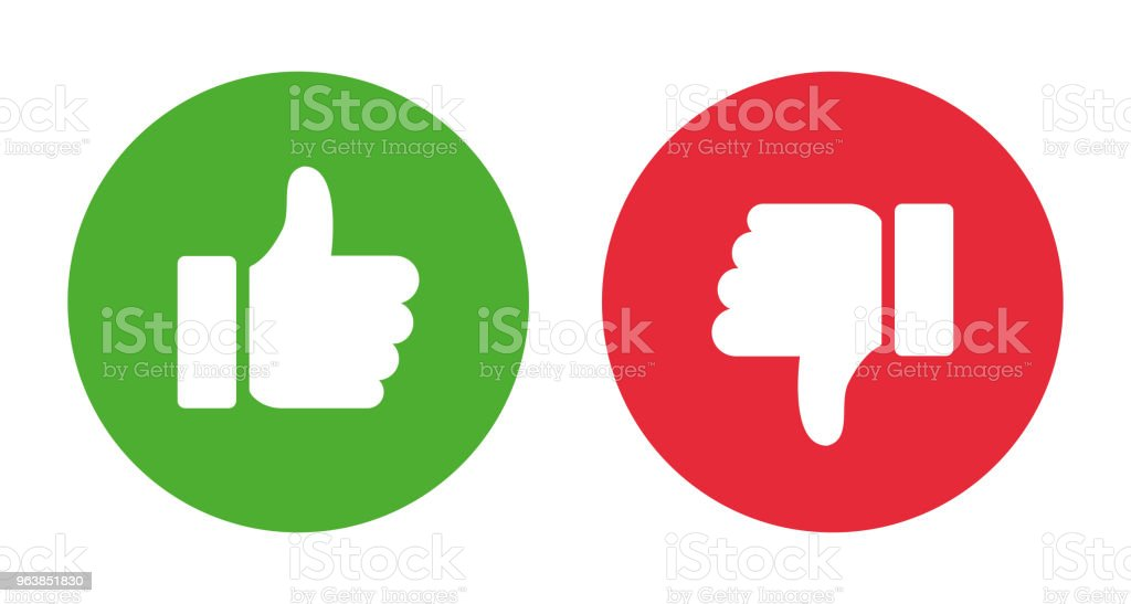 Thumbs up and thumbs down. Stock vector - Royalty-free Business stock vector